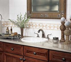 Daltile Bathroom Countertop and Backsplash