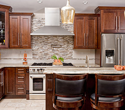 Fabuwood Cabinetry – Contemporary walnut cabinets